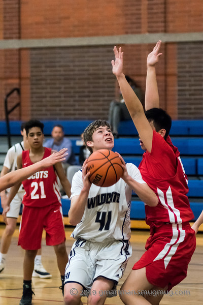 2019 Boys JV2 Basketball vs. David Douglas