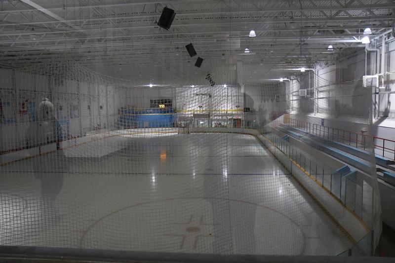 Hockey rink in Churchill community center