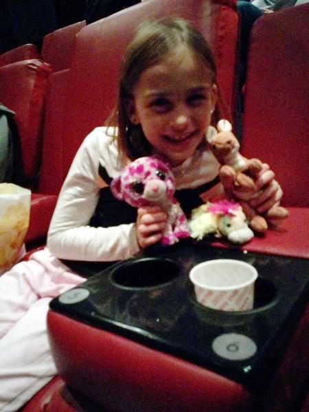 Aminals at the movies.