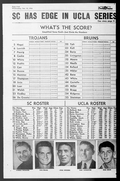 Daily Trojan, Vol. 45, No. 68, January 13, 1954