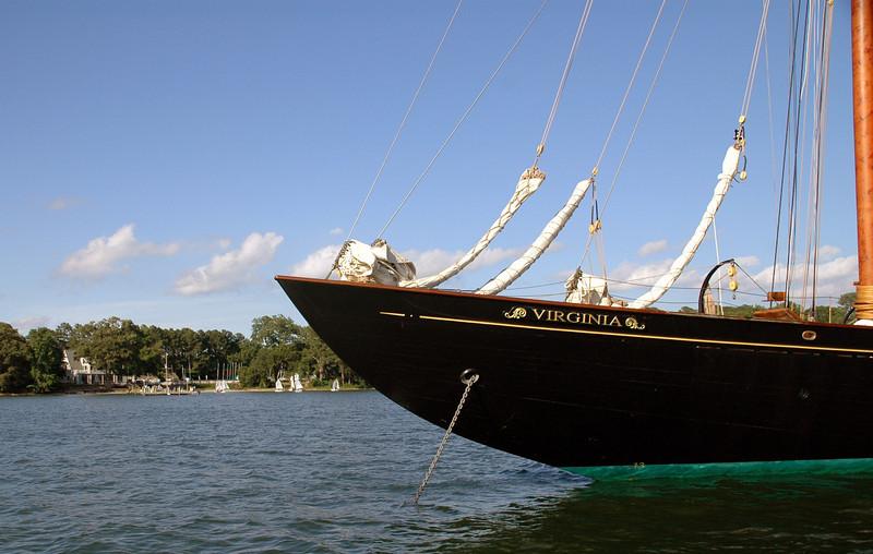Schooner Virginia anchored in Fishing Bay