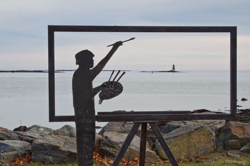 painting a seascape, a frame for imagination
