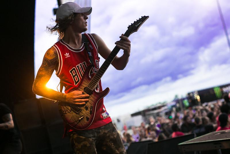 Zack Hansen in Chicago, IL on Vans Warped Tour 2016