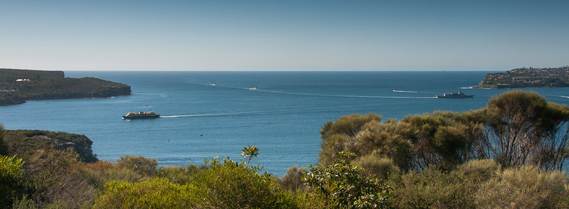 Panorama of Tasman Sea in New South Wales, Australia