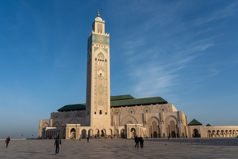 Hassan II Mosque in the morning