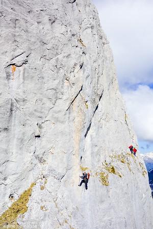 Diehlkante 5c alpine climbing, Gastlosen, 2017-05-21