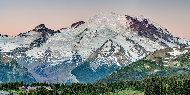 Dawn at Mount Rainier