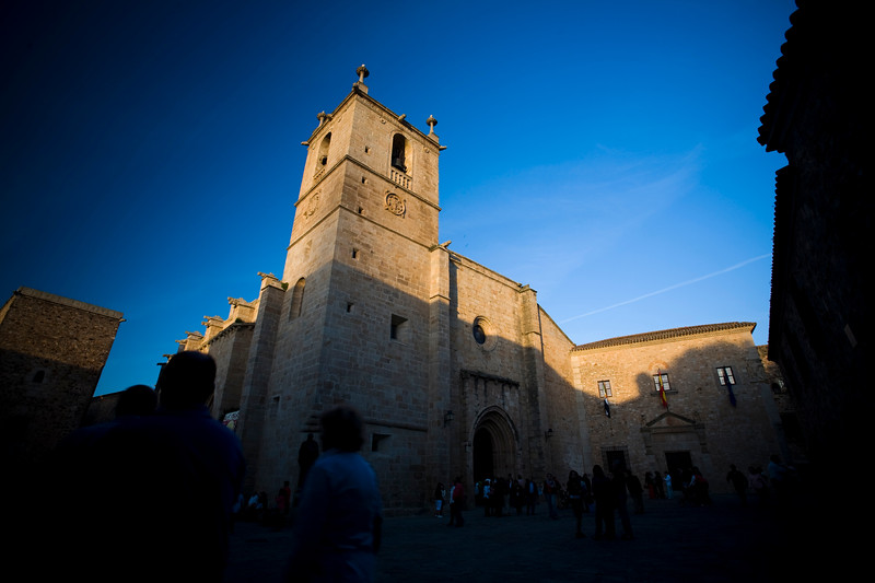Saint Mary Cathedral in the late evening, Caceres, Spain