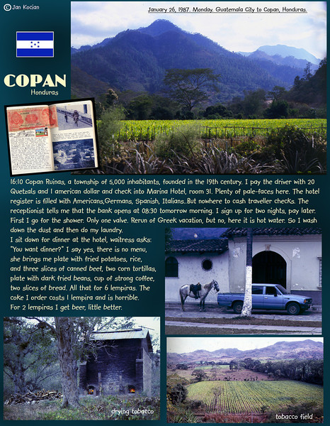 Guatemala City to Copan, Honduras. January 26, 1987