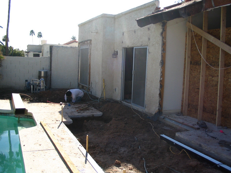 It's hard to believe that this will become our back porch area.