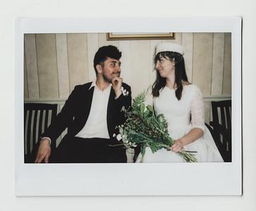 instant film wedding in Bel Air, MD