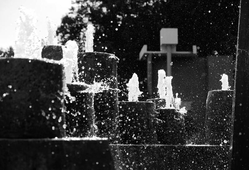Lake Anne Plaza fountain detail
