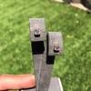 .52ctw Asscher Cut Diamond Bezel Stud Earrings, 18kt Rose Gold 16