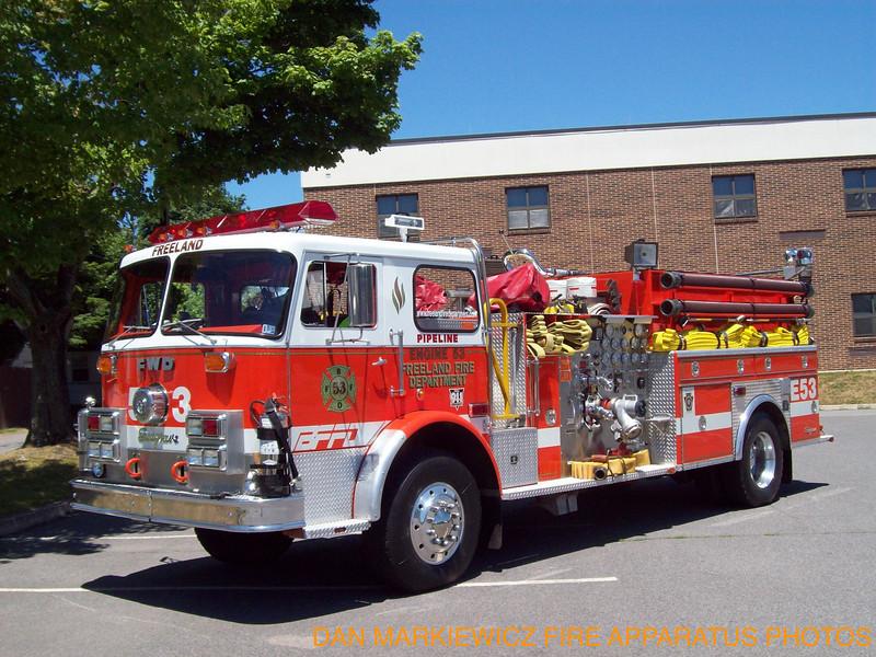 FREELAND FIRE DEPT. X-ENGINE 53 1974 SEAGRAVE/94 ITE PUMPER