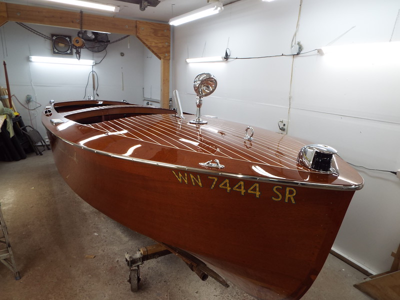 Starboard front view with the deck hardware and the Iva lite installed.