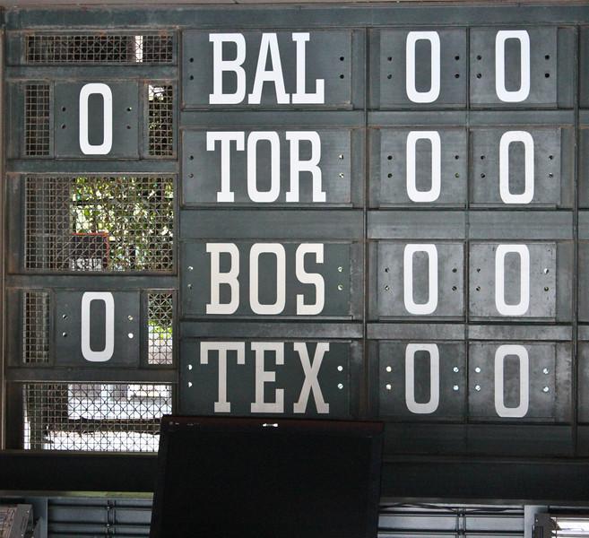 The old school scoreboards.