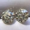 3.40ctw Old European Cut Diamond Pair 2