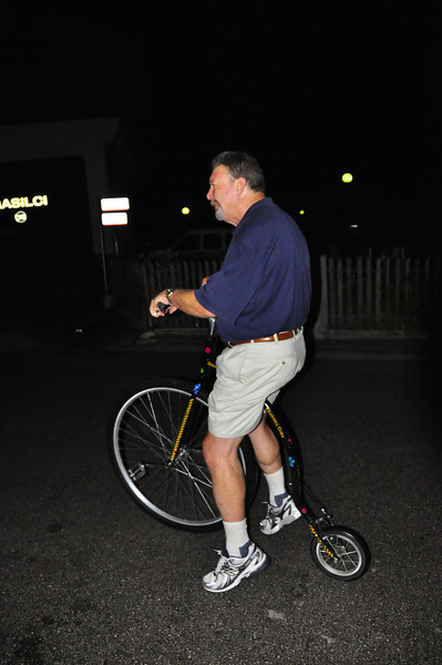 Steve, and his choice of bike for the 30 miler the next morning