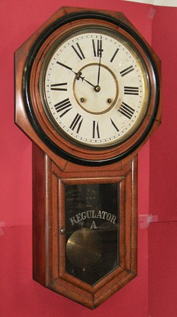 "Ansonia Long Drop Regulator ""A"" Wall Clock"