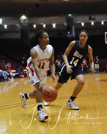 Conference USA Women's Basketball UH 70 vs Rice 50