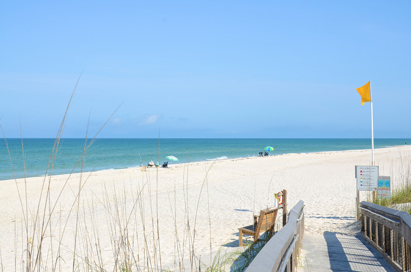 St. Joseph Peninsula State Park is on the northern 9.5 miles of the Cape San Blas Peninsula enclosing the St. Joseph Bay next to the mainland. With miles of snow-white sandy beaches, camping facilities and nature trails it is quiet place to vacation.