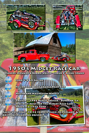 1950's Midget Race Car - Truck and Trailer