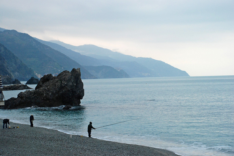 Fishermen in Monterosso