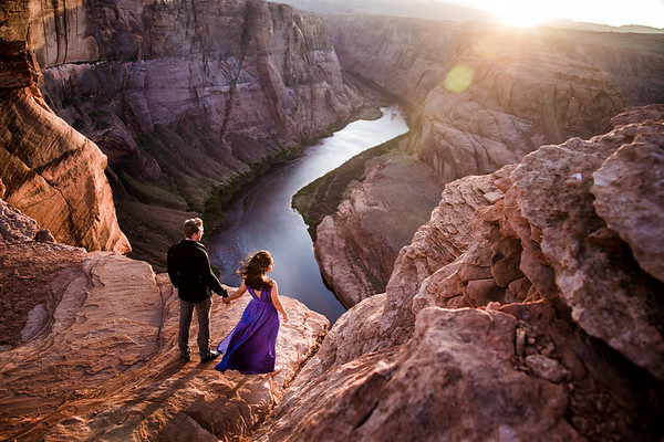 Adalys and Brett | Horseshoe Bend Engagement