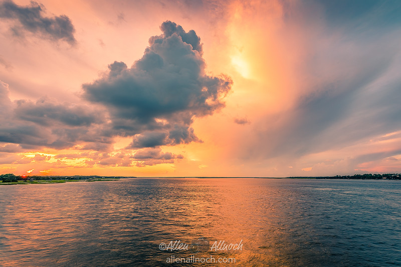 Sunset over Amelia River
