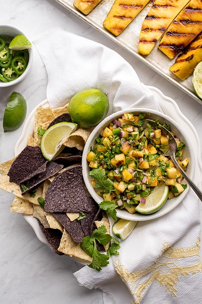 Vegan Mexican recipes - Grilled Pineapple Salsa
