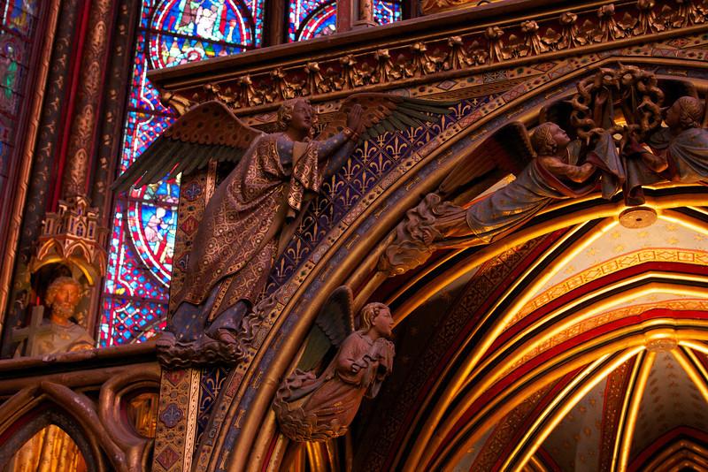 Alter detail in main chapel of Sainte-Chapelle.