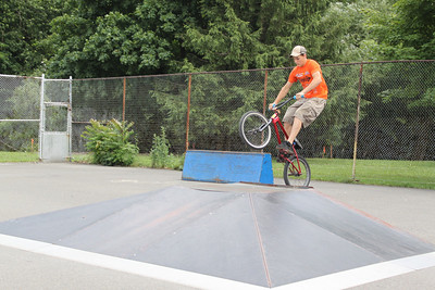 Guys doing Stunts on Bikes, Boyer's Park, Tamaqua (6-29-2011)