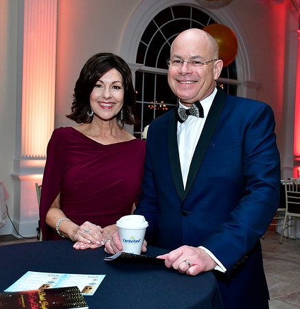 11/16/2019 Mike Orazzi | Staff Mary Lynn Gagnon and Kurt Barwis, president and CEO of Bristol Hospital, during the Bristol Hospital Ball held at the Aqua Turf Club in Southington on Saturday night.
