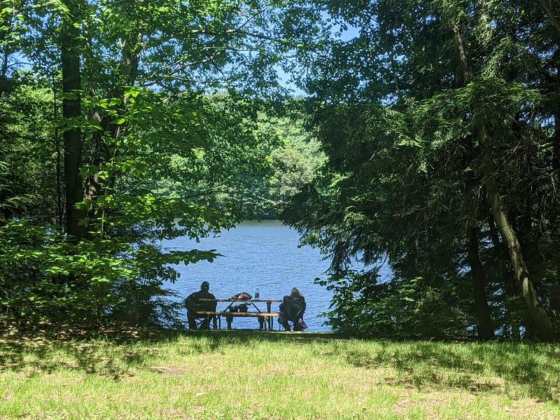 Hemlock Lake Fishing and Relaxing