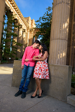 Astha and Chris (Engagement Photography) @ Palace of Fine Arts, San Francisco, California