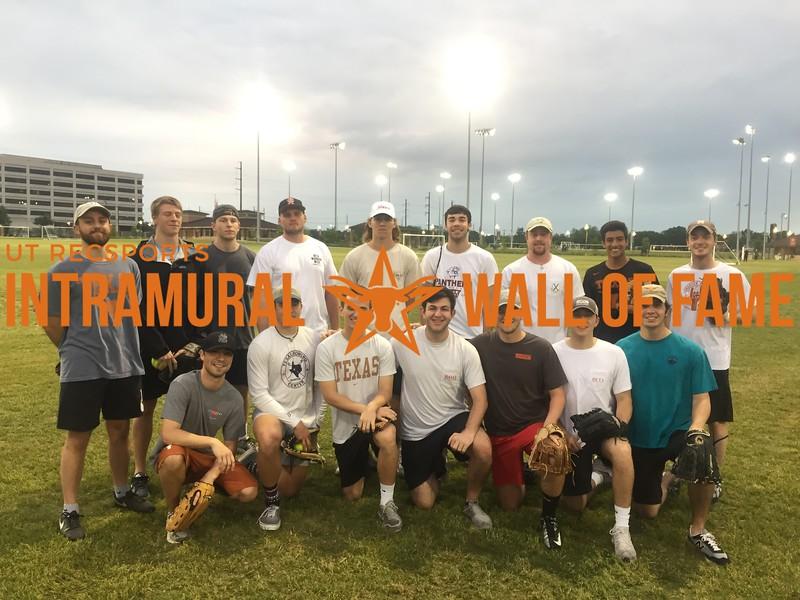 Spring 2018 Softball Fraternity Champion Beta