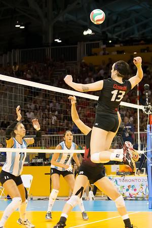 Volleyball, Canada vs Argentina 20150720
