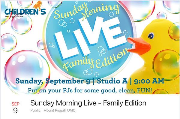 Children's 9-9-2018 at 9am PJs StudioA