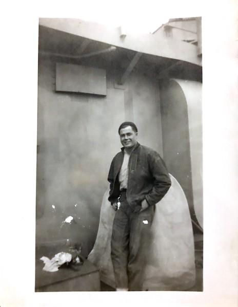 Caption said photo of Buddy on ship in World War II