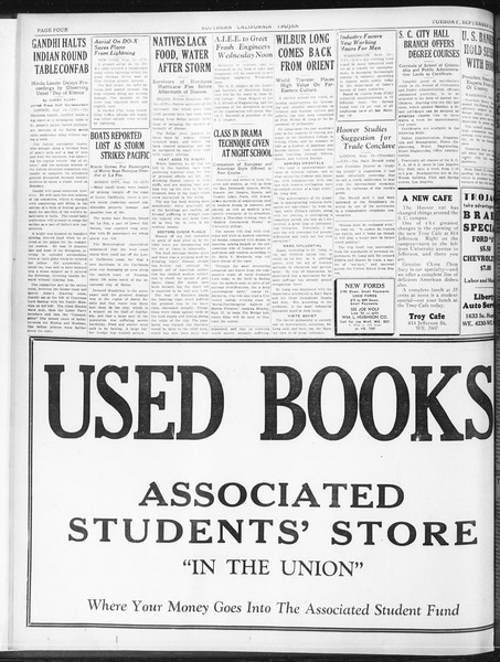 Daily Trojan, Vol. 23, No. 3, September 15, 1931
