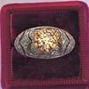 0.94ctw Vintage Old European Cut Diamond Dome Ring, Center OEC (GIA .59ct G SI2) 18
