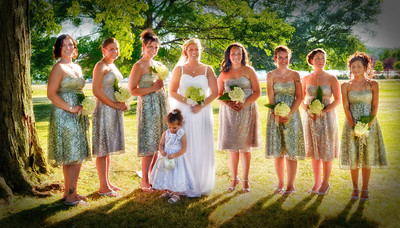 Beautiful Outdoor Bridal Party Wedding Portraits (Part 2)