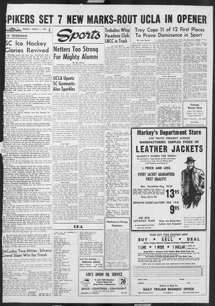 Daily Trojan, Vol. 46, No. 91, March 07, 1955