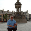 """Michael Smith authur of """"Last Man Standing"""" about Captain FRancis Rawdon Moira Crozier at the Crozier Monument in Banbridge Yesterday. 06W26N280"""