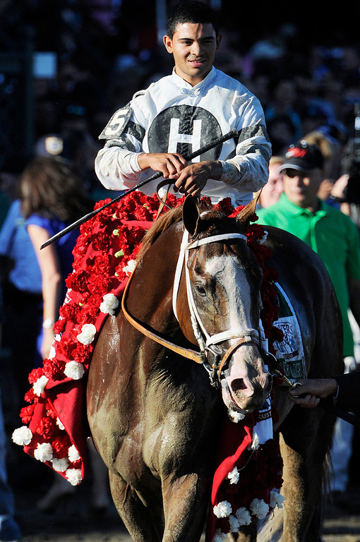 . Will Take Charge trained by D. Wayne Lucas ridden by Luis Saez won the million dollar Travers Stakes this Saturday afternoon at the Saratoga Race Course.Photo Erica Miller/The Saratogian 8/24/13 TraversEM6