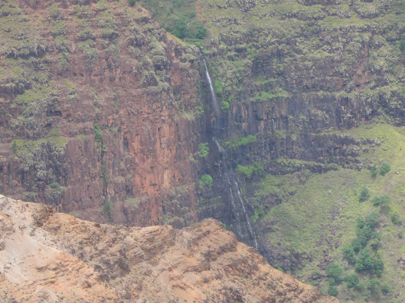 Waimea Canyon waterfall