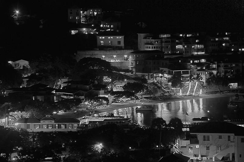 Cruz Bay at night