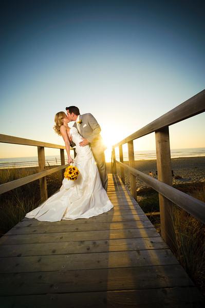 Krista and Ryan - Post-Wedding Bridal Portraits / Trash the Dress, Pajaro Dunes Beach, Watsonville, California