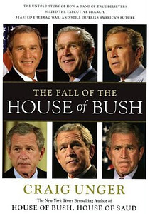 The Fall of the House of Bush book by Craig Unger. Stock agency photos.
