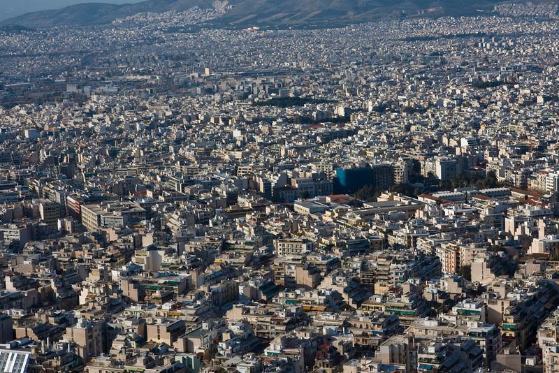 Athens urban sprawl